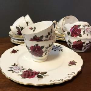 Vintage Colclough Rose Pattern Tea Set