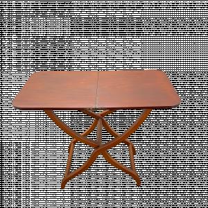 19th Century Mahogany Campaign Folding Table