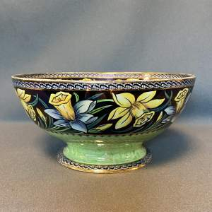 Newhall Boumier Ware Footed Large Lustre Bowl