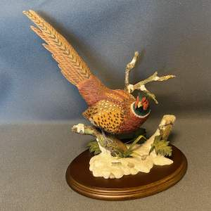 Border Fine Arts Ring Necked Pheasant In The Snow