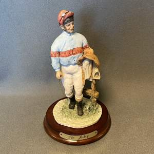 Figure of The Jockey David Fisher by Saxon