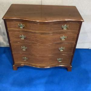 Serpentine Fronted Mahogany Chest of Drawers