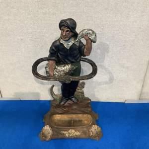Victorian Cast Iron Fisherman Stick Stand