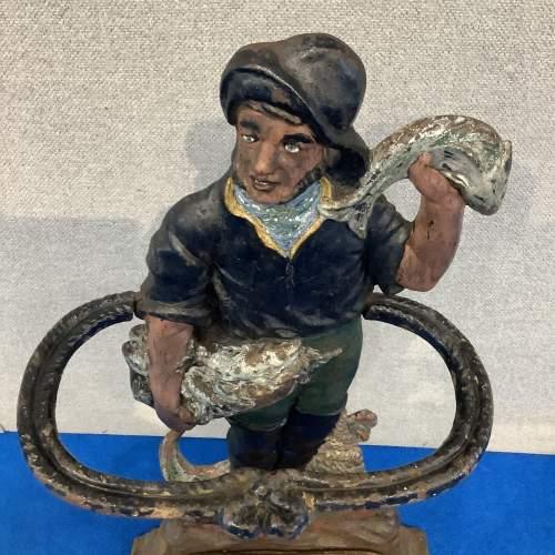 Victorian Cast Iron Fisherman Stick Stand image-2