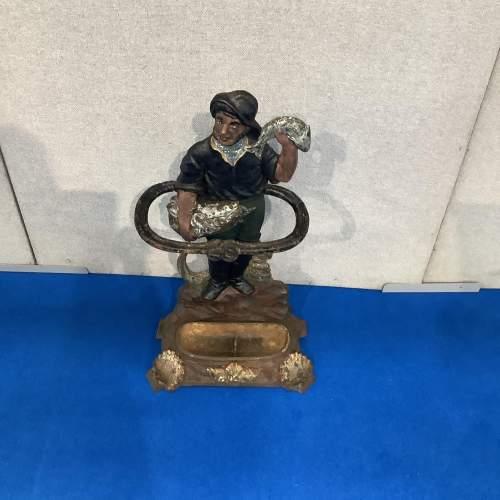 Victorian Cast Iron Fisherman Stick Stand image-5