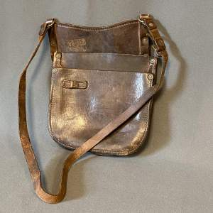 20th Century Leather Railway Conductors Money Bag