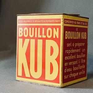 Vintage Boullion Kub Tin
