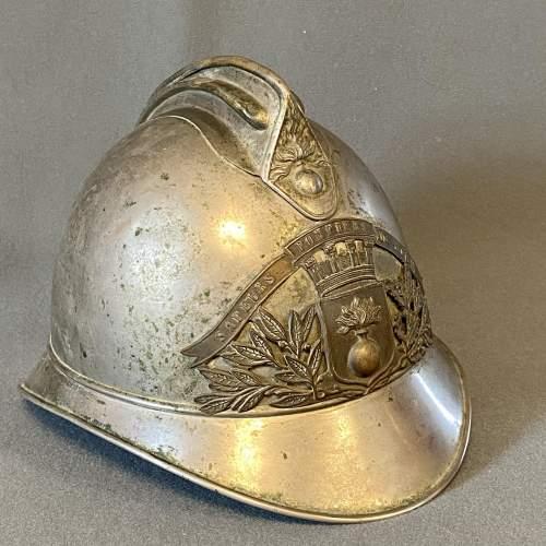 Vintage French Firemans Helmet image-1