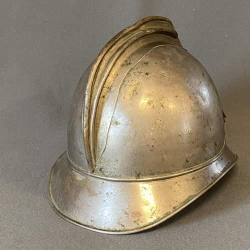 Vintage French Firemans Helmet image-3