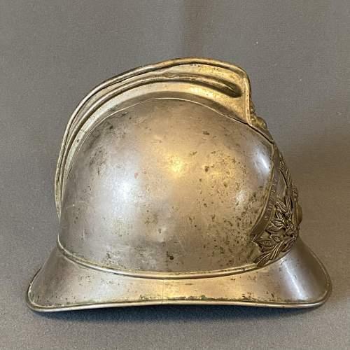 Vintage French Firemans Helmet image-2