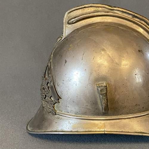 Vintage French Firemans Helmet image-4