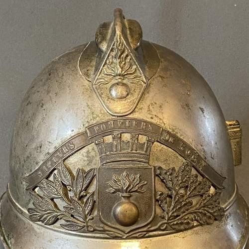 Vintage French Firemans Helmet image-5