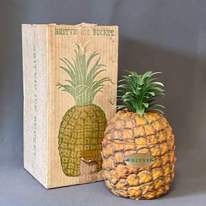 1970s Britvic Pineapple Shaped Ice Bucket - with Box