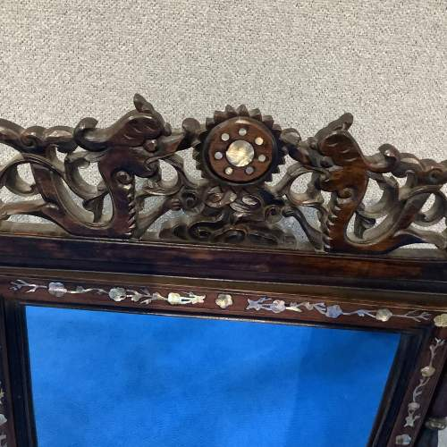 Mother of Pearl and Rosewood Dressing Mirror image-2