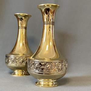 Pair of Beldray Brass Vases