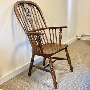 Victorian Ash and Elm Windsor Chair