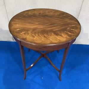Mahogany Inlaid Oval Centre Table