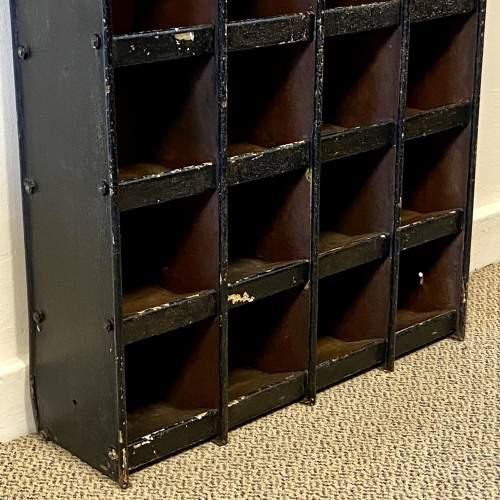 Vintage Set of 24 Metal Pigeon Holes image-2
