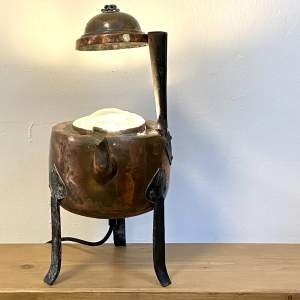 Vintage Copper Kettle Upcycled Lamp