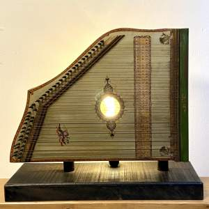Vintage Piano Harp Upcycled Lamp