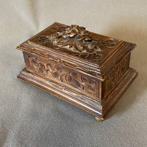 French Carved Wooden Box