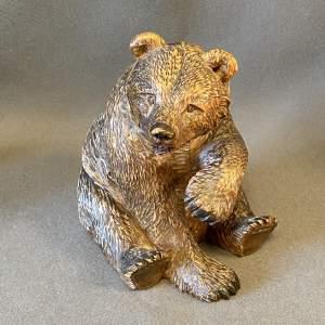 Carved Wooden Black Forest Bear