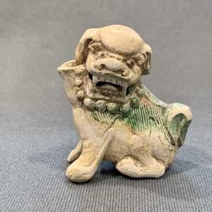 Chinese Ca Mau Shipwreck Glazed Foo Dog Joss Stick Holder