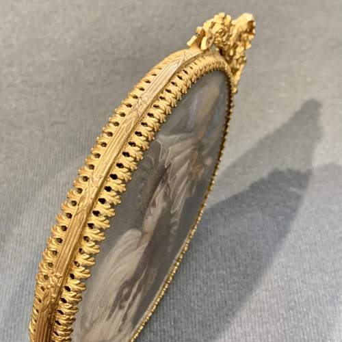 French Palais Royale Gilt Hand Mirror image-5