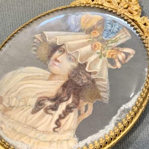 French Palais Royale Gilt Hand Mirror image-6