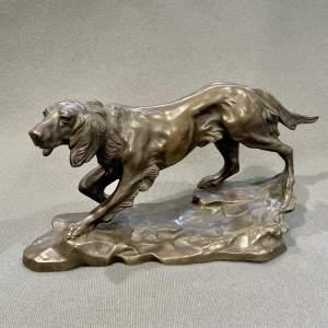 Antique Bronze Model of a Setter Dog
