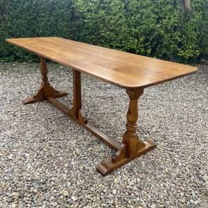 Golden Oak Long  Refectory Dining Table
