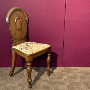 19th Century Oak Gothic Style Hall Chair