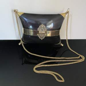 Stunning Evening Bag with Horn and Brass Design