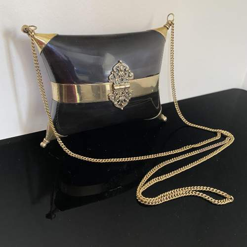 Stunning Evening Bag with Horn and Brass Design image-2