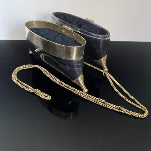 Stunning Evening Bag with Horn and Brass Design image-4