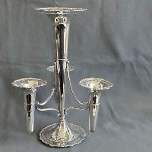 Edwardian Silver Plated Epergne Table Centre