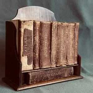 Asprey of London Mahogany Book Trough with Books