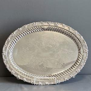 Mid Victorian Good Quality Sheffield Plate Tray