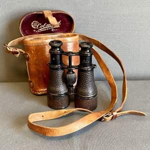 Leather Cased Set of Military Field Binoculars