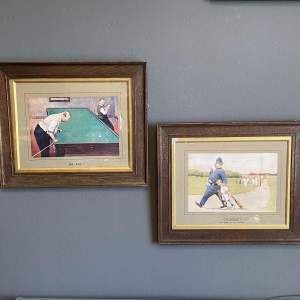 A Pair of Oak Framed Gentlemans Sporting Prints Circa 1900