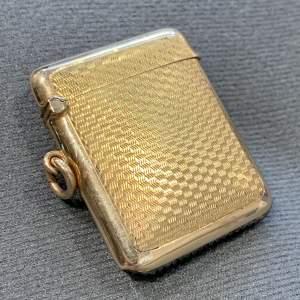 A George V 9ct Gold Vesta Case