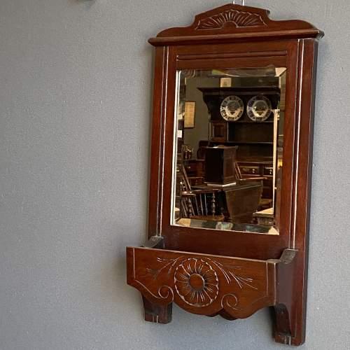 Edwardian Mahogany Hall Mirror image-4