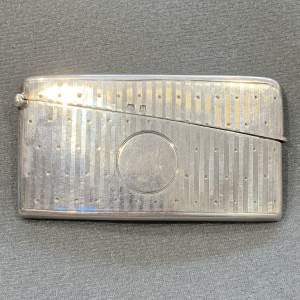 Early 20th Century Silver Card Case
