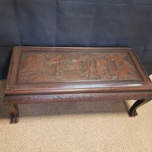 Heavily Carved Oriental Coffee Table