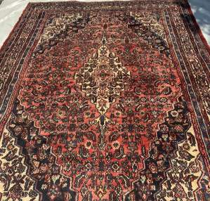 Old Hand Knotted Persian Rug Hamadan Area Superb Quality Piece