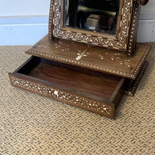 19th Century Indian Punjabi Inlaid Dresser Mirror image-2