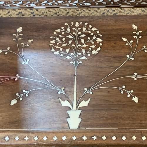 19th Century Indian Punjabi Inlaid Dresser Mirror image-5