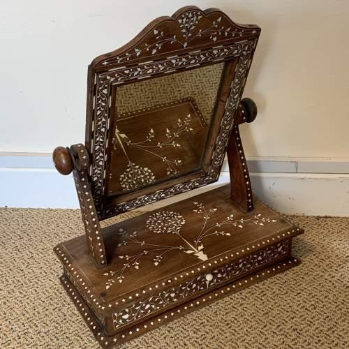 19th Century Indian Punjabi Inlaid Dresser Mirror image-6