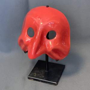 20th Century Signed Venini Murano Glass Carnival Mask