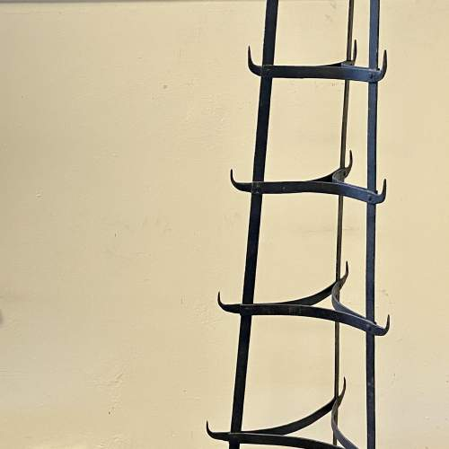 Vintage Seven Tier Strap Iron Pan Stand image-1